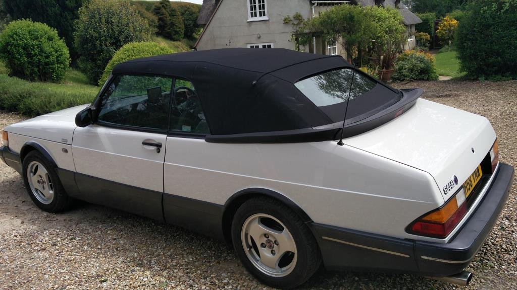 900 classic turbo rear left roof up